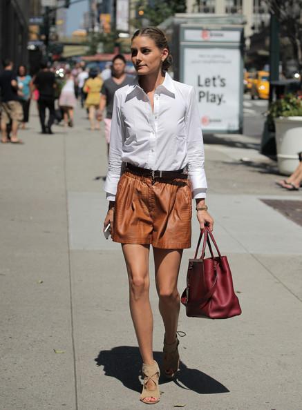 Olivia-Palermo-Zara-shorts
